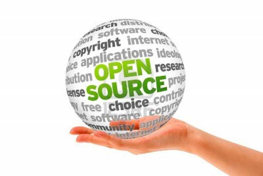 hand-holding-a-open-source-word-sphere-on-white-background